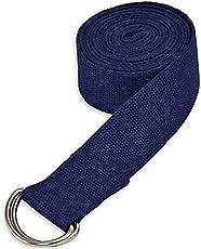 "Skyblue Yoga Belt - 8 Feet Length - 1.5"" Width - Yoga ps - for Safe, Perfect & Challenging Yoga Posture - Black"