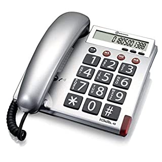Amplicomms BigTel 48 Big Button Telephone with Programmable Emergency Numbers