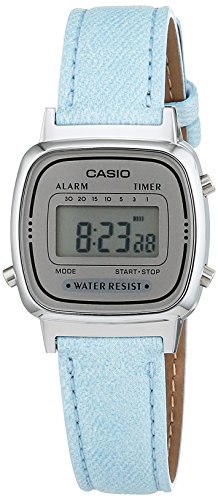 Casio Collection Damen-Armbanduhr Collection Digital Quarz Kunstleder LA670WEL-2AEF (Uhren Casio Quarz)