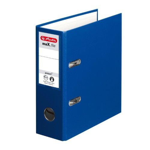 Preisvergleich Produktbild Herlitz Ordner Kunststoff A5 hoch 75mm blau