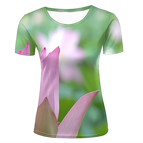 Fashion Womens Mens 3D Printed Lotus Petals Graphic Short Sleeve Tee Tops Couple T-Shirts L (Junior T-shirt Design Ringer)
