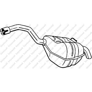 Bosal 154-353 Silencieux arrière
