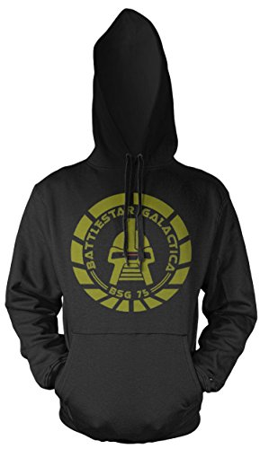 Uglyshirt89 Battlestar Galactica Männer und Herren Kapuzenpullover | Spruch Vintage Cylon Geschenk | M2 (4XL, (Battlestar Galactica Uniform Kostüm)