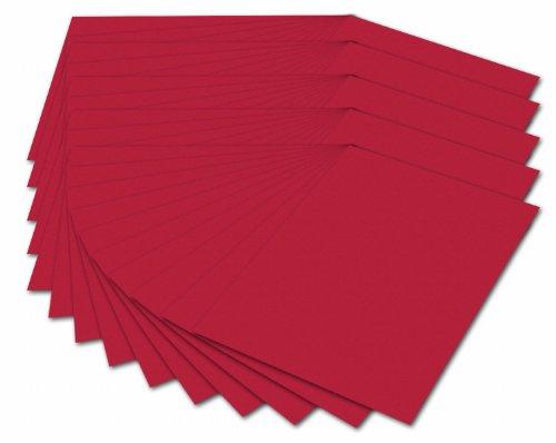 Folia 614/50 20 - Fotokarton 300 g/m², DIN A4, 50 Blatt, hochrot