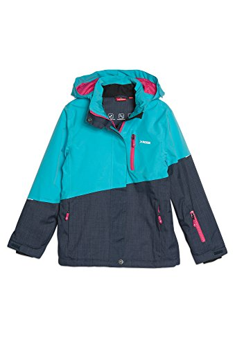 ROSSI Kinder Winterjacke - Ski, 10.000er Wassersäule türkis, 134/40 Mädchen