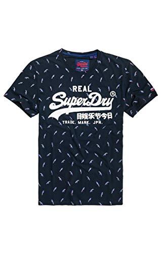 Superdry T-Shirt Damen VINTAGE LOGO SEQUIN Celestial Navy