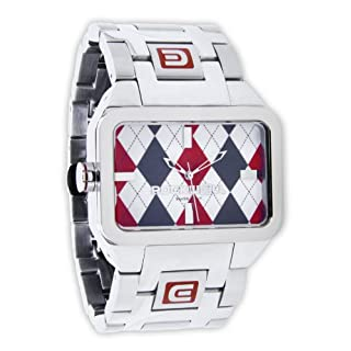 Rockwell Duel Time Silver/Red Argyle DT103 Armbanduhr