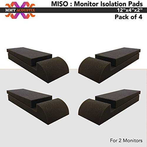 MMT Acoustix® MISO : Monitor Isolation Pads with Angle Adjuster, 12