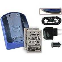 2x Batteria + Caricabatteria (USB/Auto/Corrente) per EN-EL5 / Nikon Coolpix P3 P4 P80 P90 P530 P5000 P5100 P6000 S10.. - v. lista