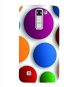 PrintVisa Corporate Print & Pattern Modern Art Circle 3D Hard Polycarbonate Designer Back Case Cover for LG K10