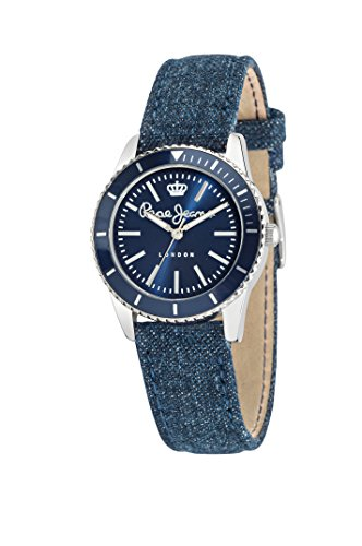 Pepe Jeans Charlie Women's Quartz Watch with Grey Dial Analogue Display and Grey Leather Strap R2351105006