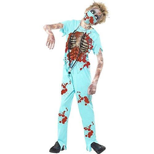 Halloween Kinder Kostüm Zombie Chirurg Doktor Gr.7 bis 9 Jahre