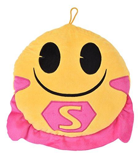 andort Foto Emoji Super Helden Cape, Veloursleder, rosa/gelb/schwarz, 30x 30x 6cm ()