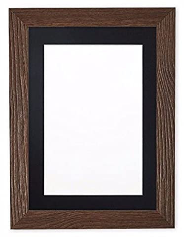 Walnut Frame with Black Mount Driftwood Effect Flat Photo Frame | Picture Frame | Poster Frame - 10