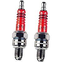 MagiDeal 2 Stuecke A7TC Zuendkerze Hochleistungs-3-Elektroden-Zuendkerze Fuer 50ccm 70cc 90cc 110cc 125cc Atv
