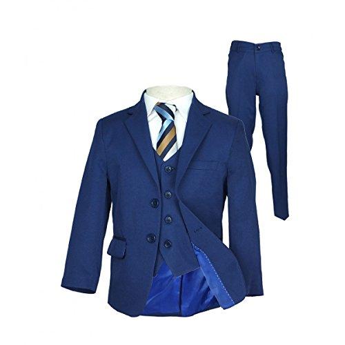 en Parlament blau Anzug, Seite Junge Hochzeit Ball Kommunion Jungen Anzüge - Parlament Blau 5 Teile, 122 (Jungen Italienischen Anzüge)