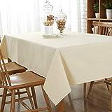 DOTBUY Tischdecke Garten, Weihnachten Volltonfarbe abwaschbar Tischtuch Leinentischdecke Pflegeleicht Fleckschutz Farbe & Größe wählbar