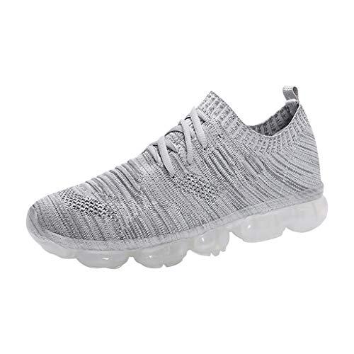 Herren Laufschuhe, Herren Outdoor Sneakers Casual elastische Wanderschuhe atmungsaktiv athletisch Mesh Sneakers Sportschuhe -