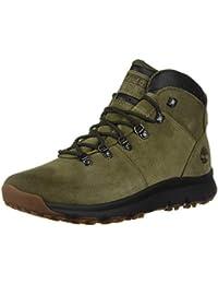 Timberland World Hiker Stivali da Uomo in Pelle e Scamosciato - Verde Oliva 0109b20c2cf