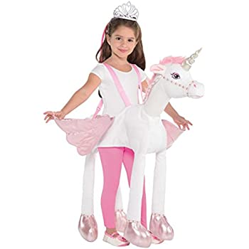 6e697765c6cb Ride on Unicorn Girls Fancy Dress Animal Fairy Tale Book Day Kids Childs  Costume