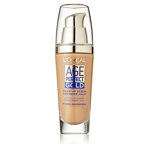 L'Oréal Paris Foundation Age Perfect Gold, 310 Rose Honey - deckendes Make Up mit Lifting Effekt für reife Haut, feuchtigkeitsspendend & pflegend, 1er Pack (1 x 25 ml)