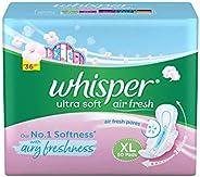 Whisper Ultra Soft Sanitary Pads For Women, X-Large Pack of 50 Napkins