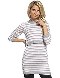 HAPPY MAMA. El Embarazo Enfermería Elástico Suéter Mangas largas. 490p