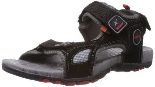 f75e583a978cf5 Buy Sparx Men s Black and Red Nylon Athletic   Outdoor Sandals - 9 UK on  Amazon