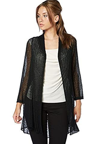 Roman Originals - Cardigan Semi-Transparent Manches 3/4 Ouvert - Femme - 48