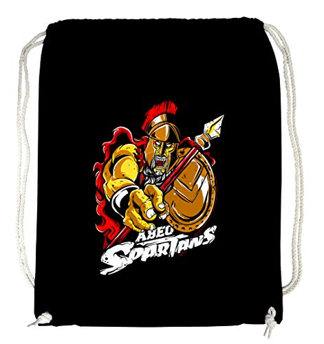 Certified Freak Abeo Spartans Gymsack Black