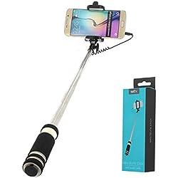 Générique - Perche Selfie Ultra Compacte pour WIKO Harry 2 - Y50 - Y80 - Y60 - Sunny 2 - Sunny 3 - Tommy 3 - Jerry 2 - Harry - Tommy 2 - Freddy - Tommy - Sunny - Robby - Jerry