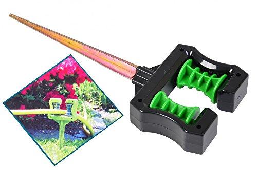 Grüner Jan Umlenkrolle für Gartenschlauch mit 2 Rollen und Erdspieß Wasserschlauchhalter