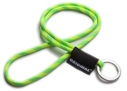 Original Lanyards® cooles Schlüsselband, Schlüsselanhänger, Lanyard in 10 Farben erhältlich (Made In Portugal) Limone/Gelb -