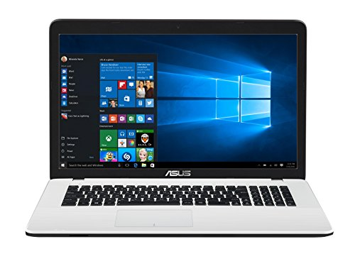 Asus F751NA-TY019T 43,9 cm (17,3 Zoll) Notebook (Intel Celeron N3350, 4GB RAM, 1TB HDD, Intel HD Graphics, DVD-Laufwerk, Win 10) weiß