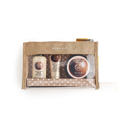 Les Sacs Body Shop fête Beauté -Fraise-Mangue-rose britannique-Shea-Noix de coco/The Body Shop Festive Beauty Bags - Argan Oil-Strawberry-Mango-Shea-Coconut- (Fraise) (Shea)