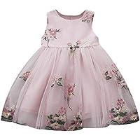 Weant Baby Kleidung Mädchen Keider Festlich Hochzeitskleid Bowknot Blumendruck Mesh Partykleid Sommerkleid Prinzessin Kleid Kinder Kleider Baby Bekleidungssets Neugeborenen Bekleidungset