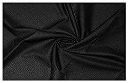 V Walkers Cotton Poly Blend Self Design Un-Stitched Trouser Fabric for Men (1.30 MTR_Black_VST121)