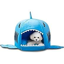wyhweilong Bolsa de dormir suave y cálida para mascotas Cama de perro y tiburón Camarera para