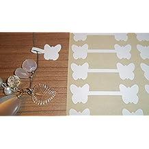 600 Mariposa Blanca Con Forma Joyería Etiquetas Para Precio Pegatinas / Forma De Mancuerna Con Forma Etiquetas