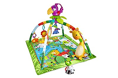 Fisher-Price DFP08 Rainforest Gym, Baby Playmat with Music and Lights, Suitable from Birth for New-Borns