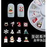 Natthom Nail carrusel serie de Navidad copo de nieve regalos de Navidad 12 modelos de plato de aleación