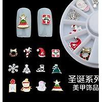 Natthom Nagel karussell Weihnachten serie schneeflocke weihnachtsgeschenke 12 modelle legierung plattenspieler