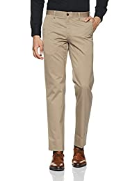 Louis Philippe Men's Straight Fit Formal Trousers (8907545897336_LPTF1M01357_Khaki_36)