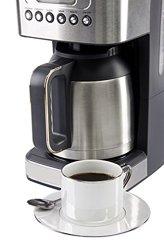 413bT1WN2WL - CRUX Instant Ground Electric Hot Coffee Maker Machine Kit - Pre-Programmable Settings - 10 Cups, Self Cleaning - Auto…