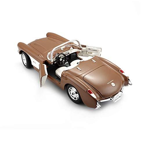 WZLDP 1:18 Simulation Metallautomodell / 1957 Chevrolet Corvette Oldtimer/Retro Spezialautomodell/Kinderspielzeug | Spielzeugauto Bastelsammlung | Spielzeugverzierungen Diecast-Modelle