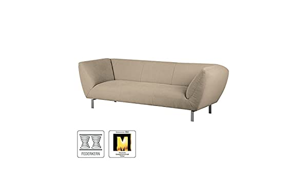 Sofas Braun Textil Breite: 231 cm Höhe: 76 cm Tiefe: 89 cm Sitzhöhe ...