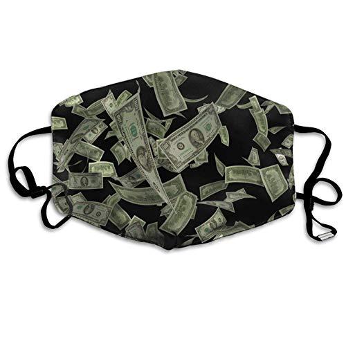 Louis Berry Staubdichte Maske wiederverwendbare Maske für Männer und Frauen, Dollar Hintergrund, Mundmaske Unisex