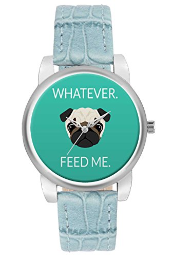 Women's Watch, BigOwl Whatever Feed Me Designer Analog Wrist Watch For Women - Gifts for her dials