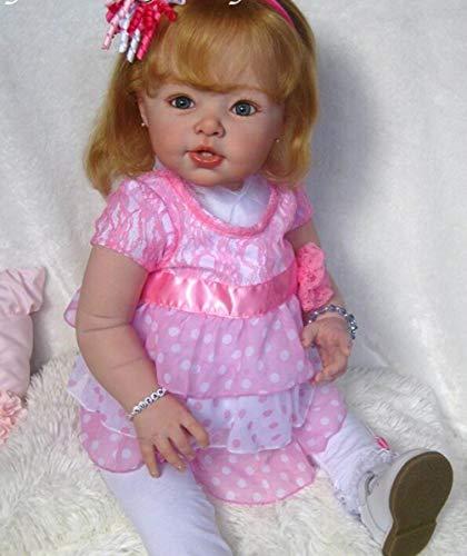 TERABITHIA 29 Pulgadas Realista Reborn Toddler Doll DIY Kits en Blanco Suave Vinilo de Silicona Despierto Sin Pintar Muñecas Partes Boca Abierta Kit Popular LDC