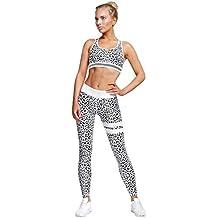 632ea431f Conjunto Ropa Deportiva Mujer Bohemio Chic 2PC Conjuntos de Sujetador Crop  Top y Pantalon Leggings Yoga